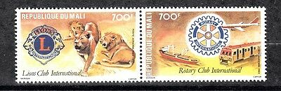 Mali Sc# C478 Pair - Lions Club International Mnh