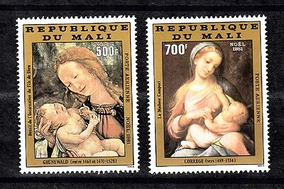 Mali Sc# C438-C439 Grunewald Painting:incarnation Of Jesus Christ Christmas 1981