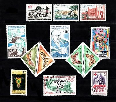 Mali Lot# 62316-A Mix Lot: All Mnh Except Cto(2) - See Picture