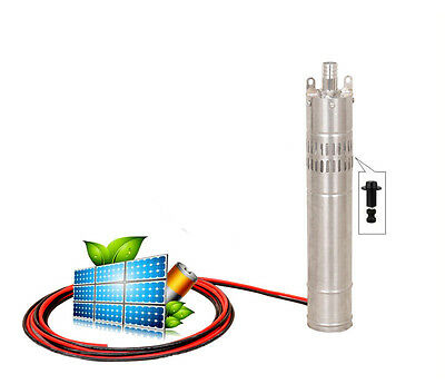 DC 24V Brushless Solar Powered Deep Well Submersible Water Pump,80M Lift Max