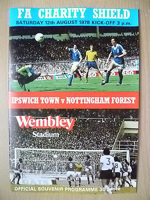 1978 FA CHARITY SHIELD- IPSWICH v NOTTINGHAM FOREST