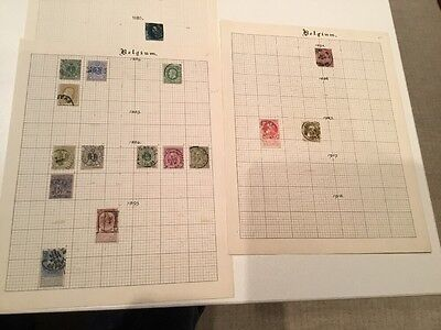 Early Belgium Postage Stamps 1850 - 1905 Used