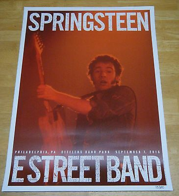 Springsteen River Tour Poster Philadelphia 9/7/16 Longest Show in US! Low #112