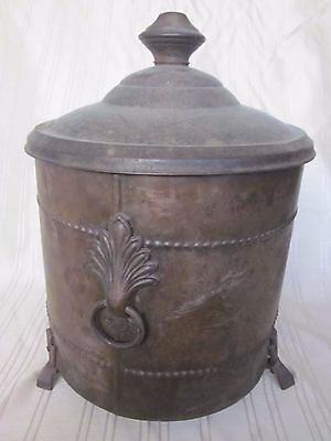 Vintage East Coast COAL/ASH SCUTTLE with DecoStyle feet