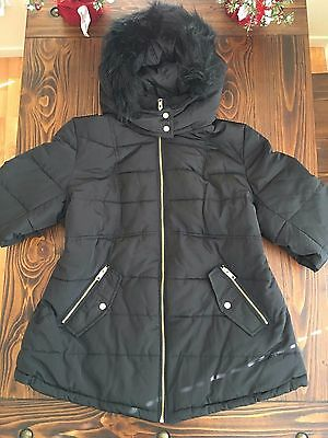H&M Black Maternity Puffer Jacket XS