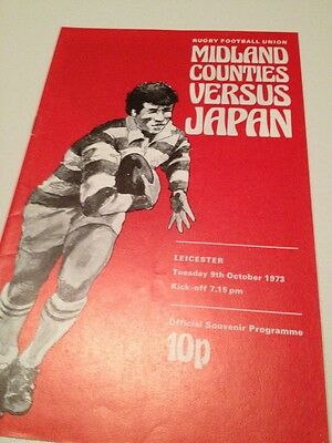 Midland Counties V Japan 9/10/1973 Leicester programme