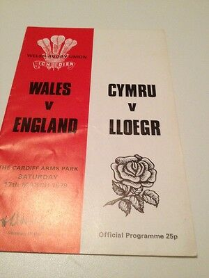 Wales v England 17/3/1979 Cardiff Arms Park programme