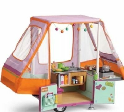 NEW American Girl Doll CAMPER Pop Up ADVENTURE Camper SET Playset NIB Sold Out
