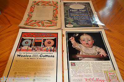 Laminated Advertisment Pages from Vintage 1915 Ladies Home Journal