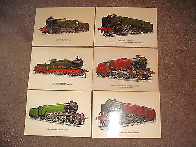 Job Lot 6 Collectors Reproductions SUPERCARDS Railway Steam locomotive Postcards