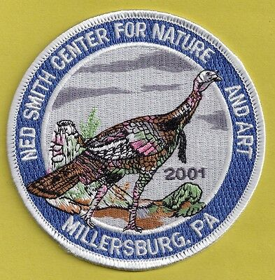 """Pa Pennsylvania Fish Game Commission NEW 2001 Ned Smith Wild Turkey 4"""" Patch (A)"""