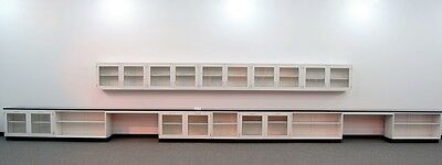 34' FISHER LAB GLASS CABINETS & CASEWORK With WALL UNITS -  (L014 - 3)..