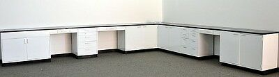 32' .. Used Laboratory Furniture / Cabinets / Casework / Lab Benches / Steel - .