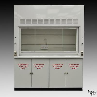6' - Chemical Laboratory Fume Hood with Epoxy Top / Flammable Cabinets #NLS-605.