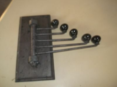 Vintage Heavy Metal 5 Swinging Towel Rack Holder