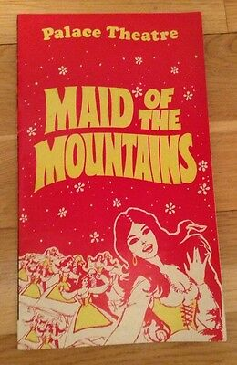 JIMMY EDWARDS in MAID OF THE MOUNTAINS 1972 PALACE THEATRE programme