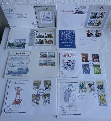 GB First Day Covers Job Lot 8 Different 1978 - 1983 Collectors Stamps