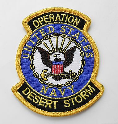 Us Navy Usn Operation Desert Storm Gulf War Embroidered Patch 3.5 X 3 Inches