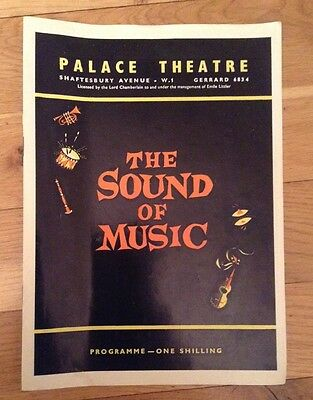 PALACE THEATRE. SOUND OF MUSIC 1961 jean bayless OLIVE GILBERT roger dann