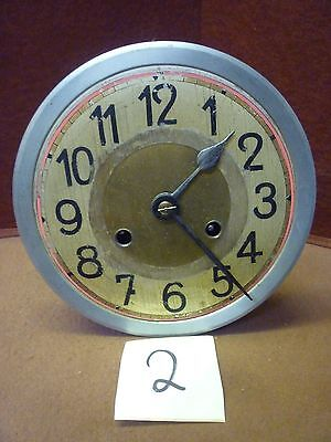 Original 1930s Wall Clock Spring Driven Chimeing Movement+Dial(2)