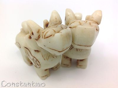 Two Cute And Beautiful Chinese White Hand-Carved Jade Dragon Statues