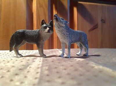 Lot 84 - Authentic Schleich Pack of Wolves Grey & Black