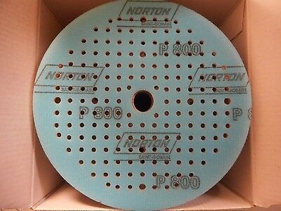 60 Norton 6 X 11/16 P800-B Multi-Air Norgrip/A275/Hook And Loop Discs Ships Free