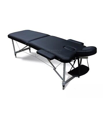Black Beauty Salon Mobile Massage Fold Up Bed With Carry Bag