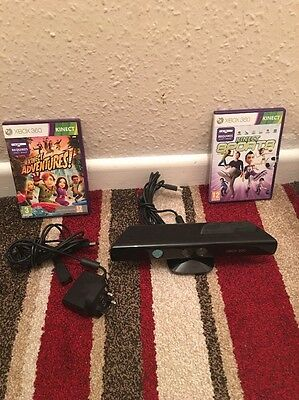 xbox 360 kinect sensor With Kinect ADVENTURE AND KINECT SPORTS Game End Charger