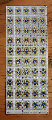 Vintage Lions Club Stamps Helping The Blind Seals Sheet of 50