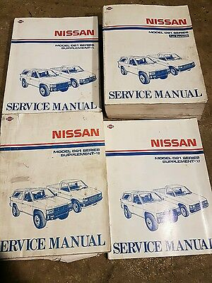 NISSAN NAVARA D21 SERIES FULL DEALERSHIP WORKSHOP MANUAL GOOD CONDITION x4 Books