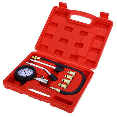 Test Pressure Leakage 9PCS Petrol Gas Engine Cylinder Compressor Gauge Meter