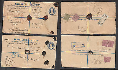 King George V India Registered Envelopes With Black Wax Seals Two In Total Dated
