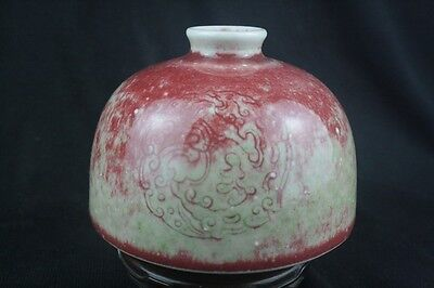 Chinese Peach Bloom Glazed Water Coupe