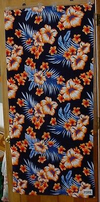 Victoria's Secret  BEACH TOWEL Hibiscus colorful flower TROPICAL FLORAL NEW PINK