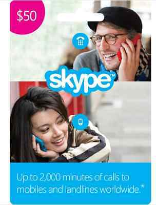 Skype Credit 50$ (Electronic-D) only for 25$