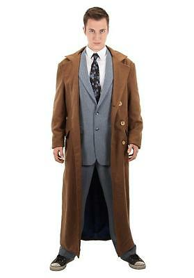 10th DOCTOR WHO BBC Licensed L/XL JACKET Coat Costume Prop REPLICA David Tennant