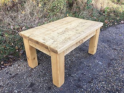 Handmade NEW Rustic Plank Solid Pine Coffee Table