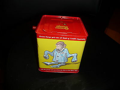Curious George wind up Jack in the box Pop Goes The Weasel Schylling toy