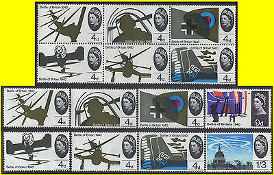 GB-UK 1965 Set of 14 25th Anniversary of Battle of Britain Ord SG 671-678 MNH