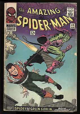 Amazing Spider-Man (1963) #39 1st Print Green Goblin ID Revealed Lee Romita GD