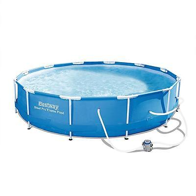 New In Box Bestway Steel Pro Round Metal Frame 12Ft Above Ground Pool