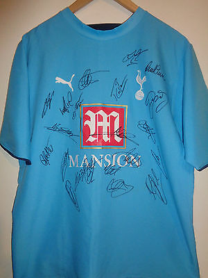 Tottenham signed football shirt by a superstar squad inc COA - Spurs