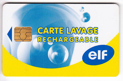Carte / Card Station Oil Petrole .. France Elf Total Lavage  Perimee Chip/puce