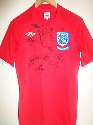 England signed football shirt by superstar team inc COA