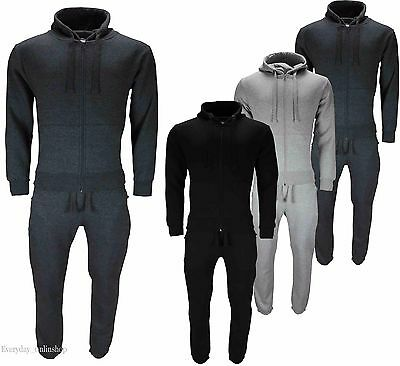 Brand New Mens Tracksuit Fleece Hoodie Top Bottom Jogging Gym Plus size S to 5XL