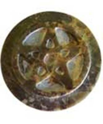 """Soapstone Pentagram Pentacle altar tile 3"""" Pagan Witchcraft *Only 1 tile incl.*"""