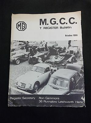MGCC T Register Bulletin October 1966 MG T Type-Morning of Rally Race