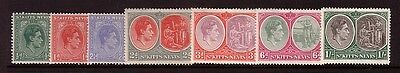 St KITTS NEVIS....  1938 KGV1  x7 different mint to 1/-