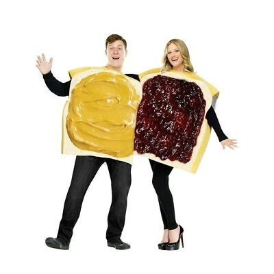 Unisex Peanut Butter and Jelly Adult Costumes